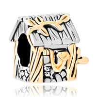 Charms Beads - new house with leaf for gold plated beads charms bracelets fit all brands Image.