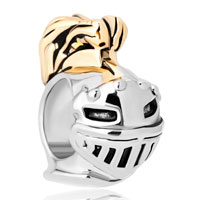 Charms Beads - hot knight helmet two tones for beads charms bracelets fit all brands Image.