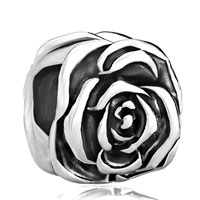 Charms Beads - beautiful rose flower fit all brands beads charms bracelets Image.