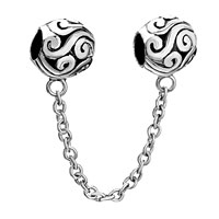 Charms Beads - silver plated double european bead link charms for bracelets dangle Image.