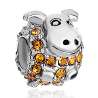 Charms Beads - birthstone charms cute yellow crystal calf beads Image.