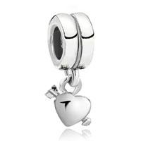 Charms Beads - silver plated love arrow heart charm bracelet dangle european bead Image.