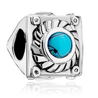 Charms Beads - silver square turquoise flower charm bracelets triangle side brands Image.