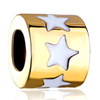 Charms Beads - silver plated golden white drip star european bead charms bracelets Image.