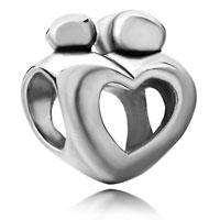 Charms Beads - mother child open heart love beadcharms beads charms bracelets fit all brands Image.