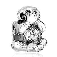 Charms Beads - speak no evil monkey animal charms for bracelets european bead Image.