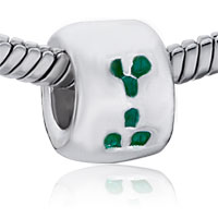 Charms Beads - round green spots fit all brands beads charms bracelets Image.