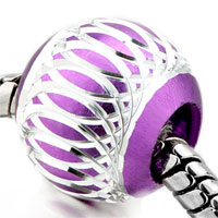 Charms Beads - purple pattern lantern aluminum european bead charms bracelets Image.