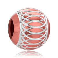 Orange Lantern Aluminum Beads Charms Bracelets Fit All Brands