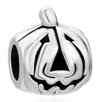 Charms Beads - jackolantern halloween pumpkin face fit all brands bracelets Image.