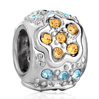 Charms Beads - silver jewelry november birthstone flower charms braceletss pattern Image.
