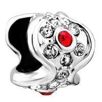 Charms Beads - jewelry january birthstone wave shape european bead charm bracelets Image.