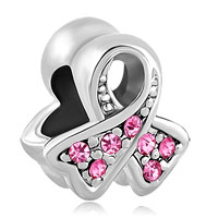 Charms Beads - breast cancer awareness pink ribbon bead charm brands charm bracelet Image.