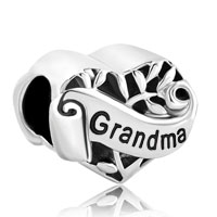 Italian Charms - family tree of life hollow heart love grandma fit murano glass loose beads all brands Image.