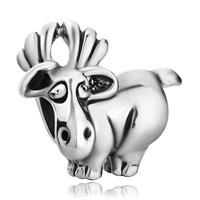 Charms Beads - silver plated cute david's deer european bead charms bracelets Image.