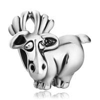 Charms Beads - silver plated cute david's deer european bead charms bracelets Image.