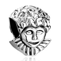 Charms Beads - silver clown curly hair european infant charm bead charms bracelets Image.