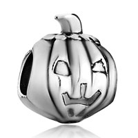 Charms Beads - silver tone jackolantern halloween pumpkin beads charms bracelets Image.