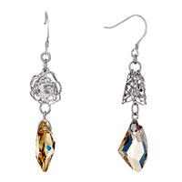 Earrings - flower bell november birthstone topaz swarovski crystal utipian drop dangle gift earrings Image.