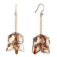 Earrings - topaz crystal rhombus dangle hook earrings mother' s day gifts Image.