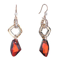 Earrings - light color topaz crystal cosmic square ring dangle indian red galactic drop earrings gift Image.