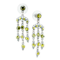 Earrings - august birthstone floral dangle earrings Image.