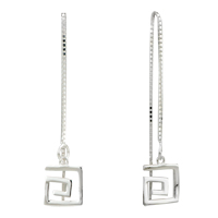 Earrings - silver linellae square sterling earring stud Image.