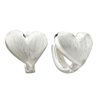 Earrings - silver tone heart love earrings re stud for fashion women Image.