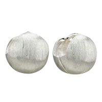 Earrings - silver circle sterling earring stud Image.