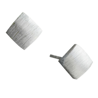 Earrings - 925  sterling silver square earring stud for fashion women Image.