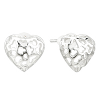 Earrings - fashion sterling silver heart dotted small earrings re stud Image.