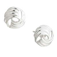 Sterling Silver Earrings - fashion 925  sterling silver circle earring stud Image.