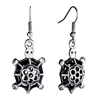 Earrings - tortoise dangle animal filigree vintage fish hook earrings for women Image.