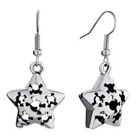 Earrings - halloween skull star antique dangle fish hook earrings for women Image.