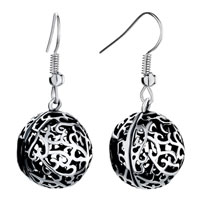 Earrings - cute round filigree antique dangle fish hook earrings for women Image.