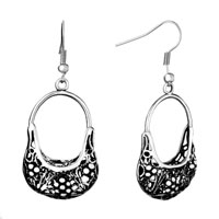 Earrings - cute filigree vintage hollow dangle fish hook earrings for women Image.