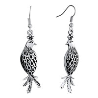 Earrings - filigree vintage antique bird animal dangle fish hook earrings for women Image.