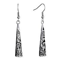 Earrings - fine filigree vintage antique dangle fish hook earrings for women Image.