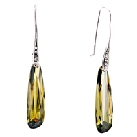Earrings - green waterdrop dangle earrings for women Image.