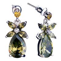 Earrings - november birthstone drop crystal dangle earrings jewelry fashion Image.