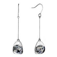 Earrings - elegant thread dangle flower knot fish hook earrings Image.