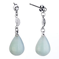 Earrings - fashion women' s leaf dangle white drop dangle earrings Image.