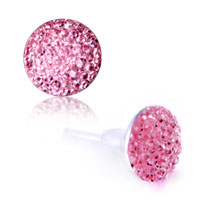 New Year Deals - pink round stud earrings Image.