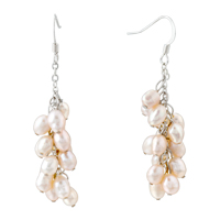 Earrings - pearl drop dangle earrings Image.