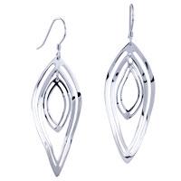 Earrings - filigree vintage antique diamond bars dangle fish hook earrings 925  sterling silver Image.