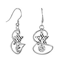 Sterling Silver Jewelry - rotating ring star earrings 925  sterling silver Image.