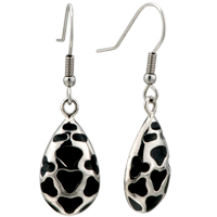Earrings - drop heart pattern dangle fish hook earrings Image.