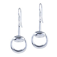 Sterling Silver Jewelry - silver rattle shaped fish hook earrings 925  sterling dangle jewelry Image.