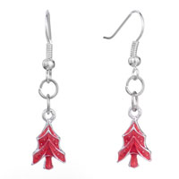 New Year Deals - christmas jewelry red xmas christmas tree fish hook earrings Image.
