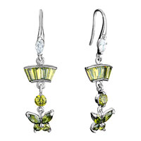 Earrings - trapezoid dangle butterfly olivine swarovski swarovski crystal fish hook earrings gifts for women Image.